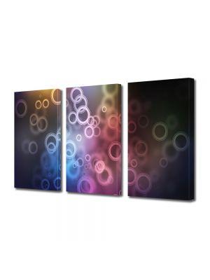Set Tablouri Multicanvas 3 Piese Abstract Decorativ Bule de aer