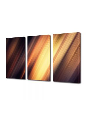 Set Tablouri Multicanvas 3 Piese Abstract Decorativ Fante de lumina