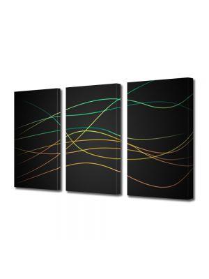 Set Tablouri Multicanvas 3 Piese Abstract Decorativ Dungi fine