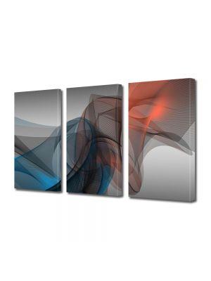 Set Tablouri Multicanvas 3 Piese Abstract Decorativ Forme fine