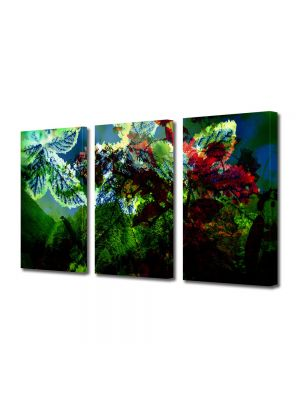 Set Tablouri Multicanvas 3 Piese Abstract Decorativ Scenariu de culori