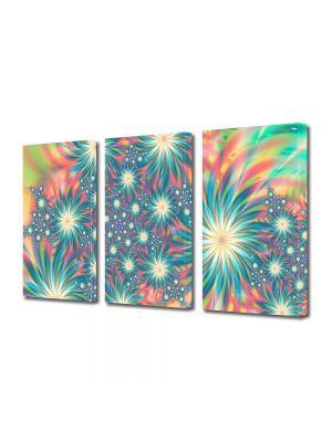 Set Tablouri Multicanvas 3 Piese Abstract Decorativ Exotic
