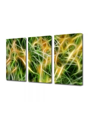 Set Tablouri Multicanvas 3 Piese Abstract Decorativ Curent electric