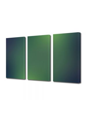 Set Tablouri Multicanvas 3 Piese Abstract Decorativ Lumini verzi