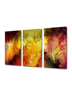 Set Tablouri Multicanvas 3 Piese Abstract Decorativ Pictura