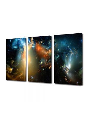 Set Tablouri Multicanvas 3 Piese Abstract Decorativ Distopie