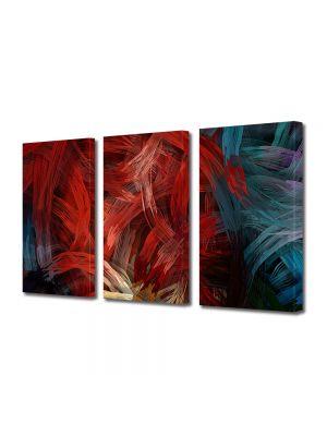 Set Tablouri Multicanvas 3 Piese Abstract Decorativ Noduri stilizate