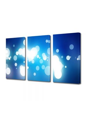 Set Tablouri Multicanvas 3 Piese Abstract Decorativ Pete de lumina