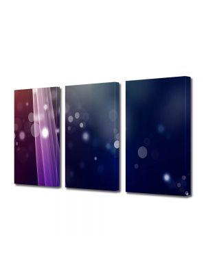 Set Tablouri Multicanvas 3 Piese Abstract Decorativ Fascicule de lumina