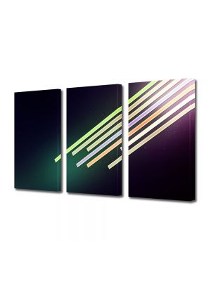 Set Tablouri Multicanvas 3 Piese Abstract Decorativ Dinamic