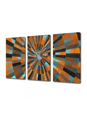Set Tablouri Multicanvas 3 Piese Abstract Decorativ Scara abstracta