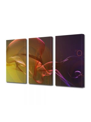 Set Tablouri Multicanvas 3 Piese Abstract Decorativ Pe fundul oceanului