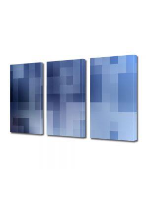 Set Tablouri Multicanvas 3 Piese Abstract Decorativ Carouri