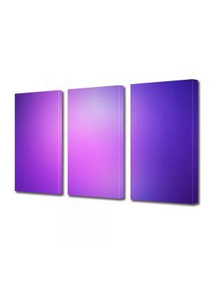 Set Tablouri Multicanvas 3 Piese Abstract Decorativ Mov