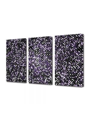 Set Tablouri Multicanvas 3 Piese Abstract Decorativ Ploaie de stele