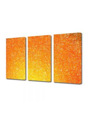 Set Tablouri Multicanvas 3 Piese Abstract Decorativ Orange