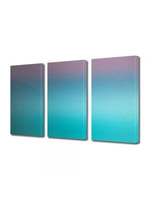 Set Tablouri Multicanvas 3 Piese Abstract Decorativ Turcuaz