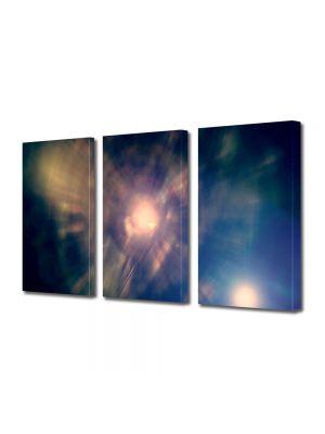 Set Tablouri Multicanvas 3 Piese Abstract Decorativ Centrul Universului