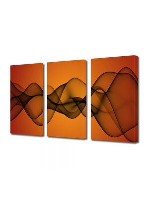 Set Tablouri Multicanvas 3 Piese Abstract Decorativ Unde de fum