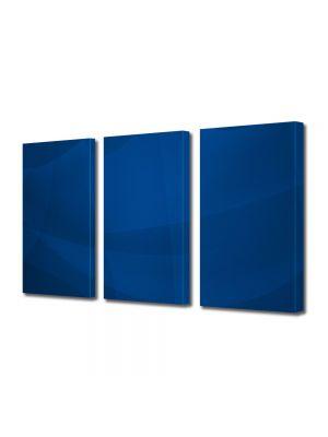Set Tablouri Multicanvas 3 Piese Abstract Decorativ Vartej albastru