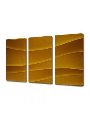 Set Tablouri Multicanvas 3 Piese Abstract Decorativ Dealuri portocalii