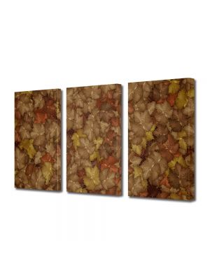Set Tablouri Multicanvas 3 Piese Abstract Decorativ Camuflaj