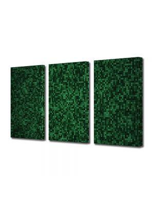 Set Tablouri Multicanvas 3 Piese Abstract Decorativ Mocheta