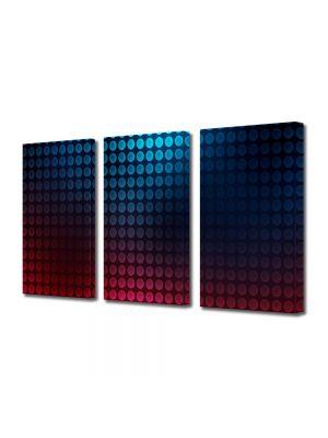 Set Tablouri Multicanvas 3 Piese Abstract Decorativ Buline
