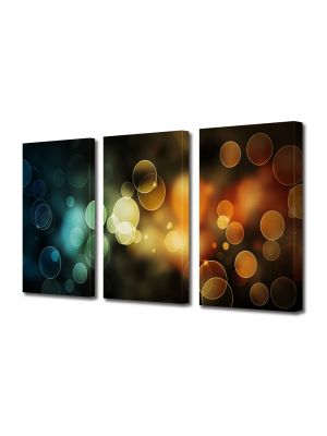 Set Tablouri Multicanvas 3 Piese Abstract Decorativ Lumini