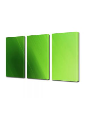 Set Tablouri Multicanvas 3 Piese Abstract Decorativ Verde