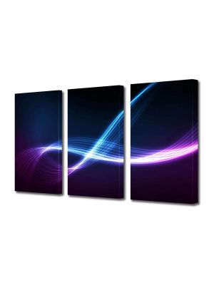 Set Tablouri Multicanvas 3 Piese Abstract Decorativ Energii