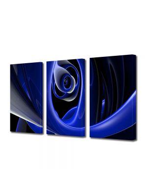 Set Tablouri Multicanvas 3 Piese Abstract Decorativ Negura