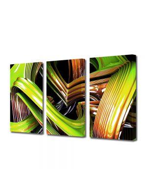 Set Tablouri Multicanvas 3 Piese Abstract Decorativ Sticla colorata