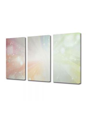 Set Tablouri Multicanvas 3 Piese Abstract Decorativ Lumina puternica