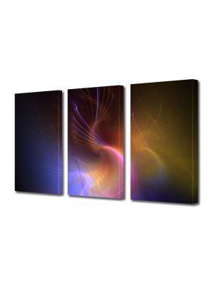 Set Tablouri Multicanvas 3 Piese Abstract Decorativ In spatiu