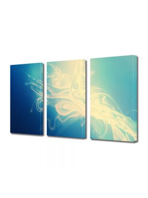 Set Tablouri Multicanvas 3 Piese Abstract Decorativ Luminozitate