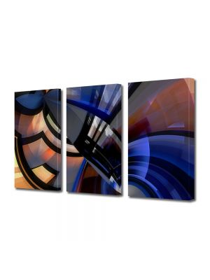 Set Tablouri Multicanvas 3 Piese Abstract Decorativ Robot