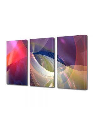 Set Tablouri Multicanvas 3 Piese Abstract Decorativ Lumini blande