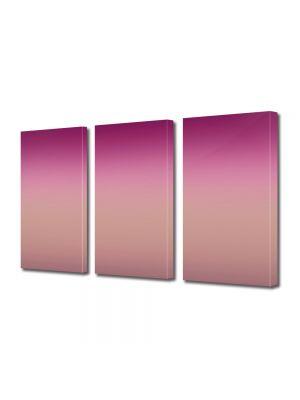 Set Tablouri Multicanvas 3 Piese Abstract Decorativ Nuante de violet