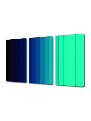 Set Tablouri Multicanvas 3 Piese Abstract Decorativ Dungi albastre
