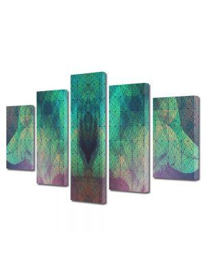 Set Tablouri Multicanvas 5 Piese Abstract Decorativ Arta contemporana
