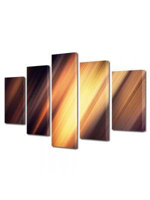 Set Tablouri Multicanvas 5 Piese Abstract Decorativ Fante de lumina