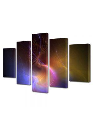 Set Tablouri Multicanvas 5 Piese Abstract Decorativ Galaxie