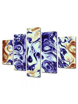 Set Tablouri Multicanvas 5 Piese Abstract Decorativ Pastel