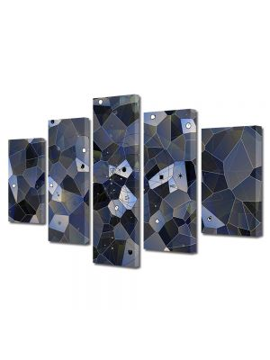 Set Tablouri Multicanvas 5 Piese Abstract Decorativ Ochi