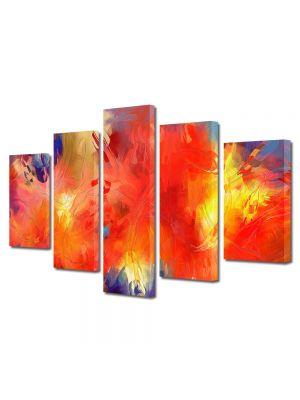 Set Tablouri Multicanvas 5 Piese Abstract Decorativ Univers