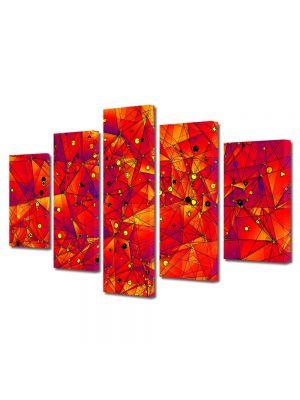 Set Tablouri Multicanvas 5 Piese Abstract Decorativ Aproape de soare