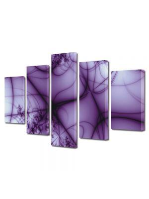 Set Tablouri Multicanvas 5 Piese Abstract Decorativ Umbre