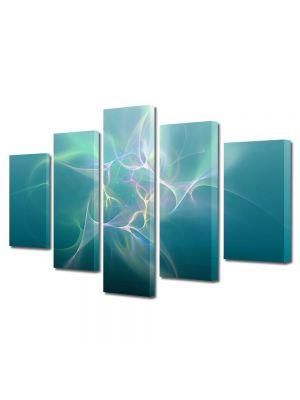 Set Tablouri Multicanvas 5 Piese Abstract Decorativ Descarcari electrice