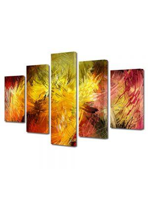 Set Tablouri Multicanvas 5 Piese Abstract Decorativ Pictura